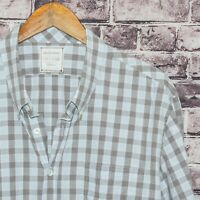 BILLY REID Men's Standard Cut Button Down Shirt Blue Gray Sz 2XL