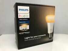 Philips Hue White Ambiance E27 Starter Kit With 3 Bulbs,Hue Bridge & Dimmer