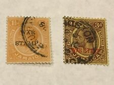 Jamaica 1917 War Tax Stamps     used    (3796)