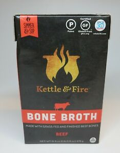 Kettle & Fire Beef Bone Broth   Case Of 2  16.9 Oz