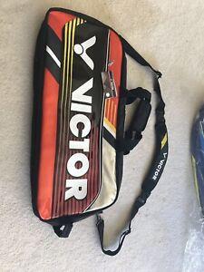 BRAND NEW Orangeade/Black Victor Badminton Bag #BR9607 (SHIPPING INCLUDED)