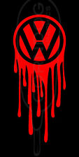Dripping VW RED VINYL STICKER DECAL VW VOLKSWAGEN GTI JETTA GOLF BEETLE BUG BUS