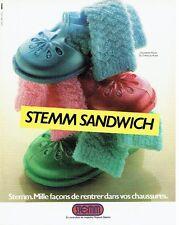 PUBLICITE ADVERTISING 0217  1981  chaussettes enfants Ninon de Stemm