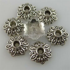 12259 75PCS Antique Silver Tone Alloy 8mm Spacer Bead Caps End Caps