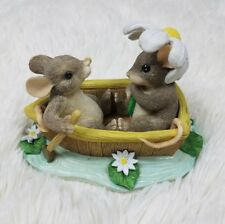 "Charming Tails Figurine ""Rowboat Romance"" Fitz & Floyd 83/801 By Dean Griff"