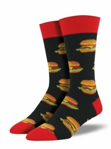 Socksmith Good Burger - Herren Socken mit Hamburger - Gr. 43-46, no boring Socks