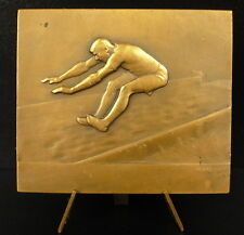 Médaille saut en longueur compétition Long jump sc André Méry c 1930 medal