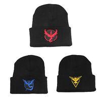 Unisex Pokemon Go Team Valor Mystic Instinct Knitted Beanie Hat Sull Cap Hip Hop