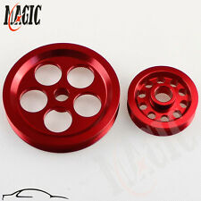 Power Steering Alternator Pulley Kits Integra DC B16a B16b b18c Civic EG EK RED