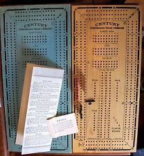 Century Continuous Track Cribbage Game Wood Are-Jay Vintage Maple Cards 715