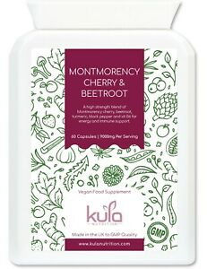Montmorency Sour Cherry & Beetroot Supplement Strong 9000mg - 60 Vegan Capsules