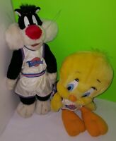 Used Space Jam SYLVESTER & Tweety Tune Squad Plush - Free Shipping and insurance