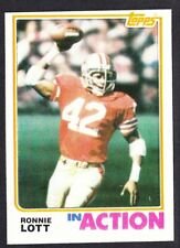 08bc1028d21 1982 Topps Football Ronnie Lott San Francisco 49 ers In Action Card  487