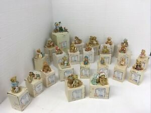 Cherished Teddies Job Lot Of 23 Various Pieces Boxed Certificates Of Adoption