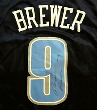 Vtg Utah Jazz Ronnie Brewer #9 Autographed Adidas Basketball Jersey Signed