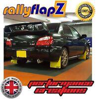 Mudflaps SUBARU IMPREZA Blobeye (03-05)rallyflapZ 4mm Yellow PVC STi logo small