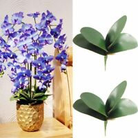 Artificial Butterfly Orchid Silk Leaf Fake Flower Home Wedding Party Decor