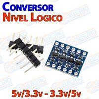Conversor Bidireccional 3,3v-5v DC 4 canales nivel logico i2c SPI 3.3v Arduino