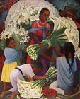 Print - The Flower Vendor by Diego Rivera