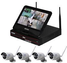 Kabellos HD Überwachungsset IP Kamera Nachtsicht Fernzugriff Monitor HDMI