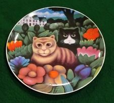 Kittys Basil and Clarissa - Martin Leman Dept 56 Hard to Find Collector Plate 9""