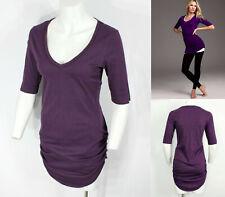 Moda International Victoria Secret VS Vneck ruched side Tunic Top Tee T-shirt L