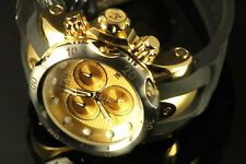 Mens Invicta Reserve 52mm Venom Chrono Swiss Movement  Gold Tone Black Watch