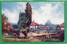 """WORCESTER, OLD WATER TOWER, BARBONNE *TUCK """"OILETTE"""" 7517 *G148"""