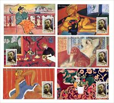 2010 HENRI MATISSE 12 SOUVENIR SHEETS MNH UNPERFORATED ART PAINTINGS