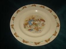 "Royal Doulton Easter Bunnykins 7"" Plate ""Bath Time"" 1936 English Fine Bone China"