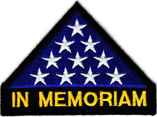 """IN MEMORIAM"", MILITARY HONOR, AMERICAN FLAG, VETERAN  -Iron On Patch"
