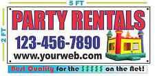 PARTY RENTALS w/ Custom PHONE & Web Banner Sign Best Quality of the $$$