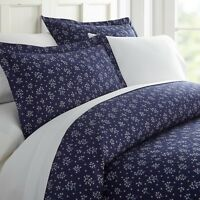 Home Collection Ultra Soft Midnight Blossoms Pattern 3 Piece Duvet Cover Set