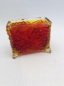 Vintage Boyd glass Card Holder Red
