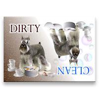 SCHNAUZER Clean Dirty DISHWASHER MAGNET New DOG