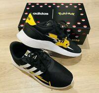 *BNIB LTD Black Stripe Adidas PIKACHU Pokemon Trainers Running Shoes UK 5/5.5 38