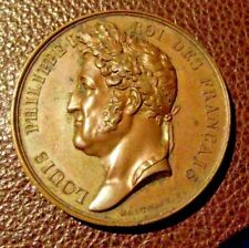More details for louis phillippe bronze commemorative  medal for visit to cherbourg in 1833