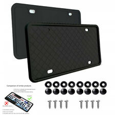 2pcs Silicone USA License Plate Tag Holder Mounting Relocator Adapter Bumper Kit