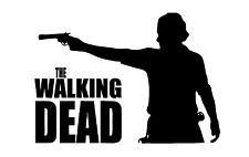 Zombie The Walking Dead Rick Grimes Decal Vinyl Truck Car Window Sticker Black