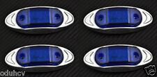 4X 6 LED BLU 12V Anteriore Lato cromo luce laterale per auto suv Ford AUDI VW