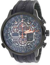 Eco-Drive Navihawk Atomic Alarm Chronograph Mens Watch, JY8035-04E