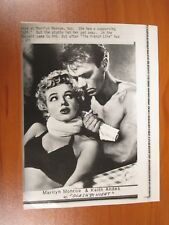 Vintage AP Wire Press Photo Actors Marilyn Monroe & Keith Andes, Clash by Night