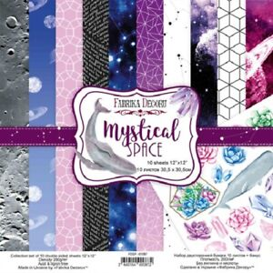 """12"""" x 12"""" scrapbooking paperpad cardstock Mystical Space 10 designs x 2 sheets"""