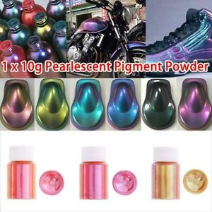 10g/Bottle Chameleon Color Changing Pearl Powder For Car Paint Pigment Brand New