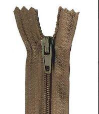 40cm Mid Brown Dress Zip