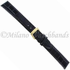 18mm Speidel Black Alligator Grain Genuine Leather Mens Watch Band 967 531 XLong