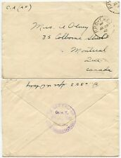 Canada Esercito postale in GB 1942 OPC THC1 timbro postale Royal Engineers 1st BATTAGLIONE