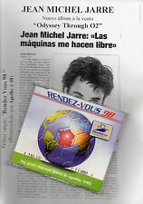 "JEAN MICHEL JARRE ""RENDEZ-VOUS 98"" PROMO CD SINGLE+SPANISH INFO SHEET + ENVELOPE"