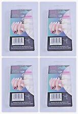 400 PZ colla su bianco tondo acrilico francese artificiale falso Nail Art Tips-UK