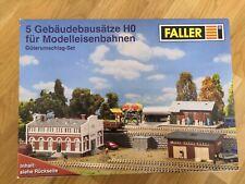 Faller Gebäudebausätze H0 für Modelleisenbahnen, Güterumschlag-Set Neu